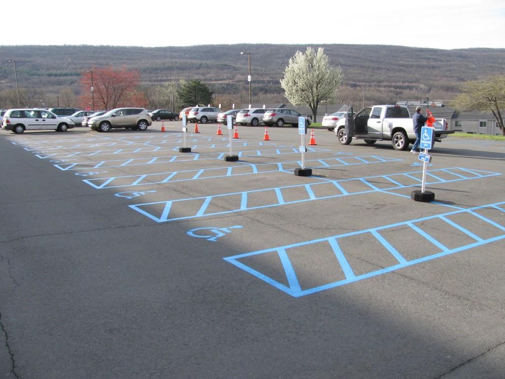 VA Medical Center Handicapped Parking Stalls